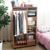 【EASY HOME】開放式可移動多層收納衣櫃附贈牛津收納盒*1