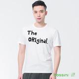 bossini男裝-圓領短袖上衣01灰白