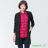 bossini女裝-長版針織外套黑