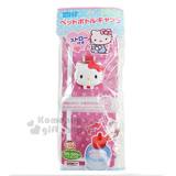 〔小禮堂〕Hello Kitty 造型寶特瓶蓋《白.大臉.附吸管》