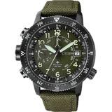 CITIZEN 星辰 PROMASTER 光動能專業登山錶-綠/46mm BN4045-12X