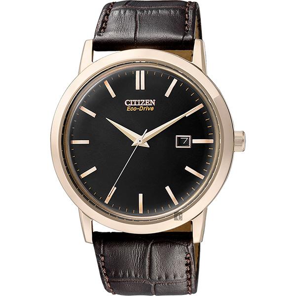 CITIZEN 星辰 Eco-Drive 光動能復刻手錶-黑x咖啡/ 40mm BM7193-07E