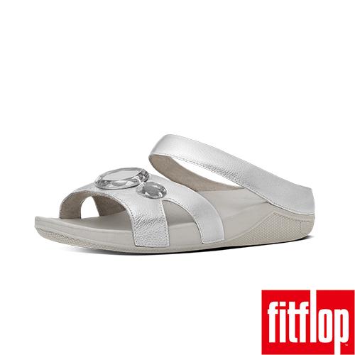 FitFlop™-(女款)LUNA POP™ SLIDE-銀色