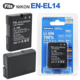 Kamera 佳美能 for Nikon EN-EL14 高容量鋰電池 (DB-EN-EL14)