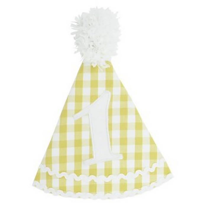 美國 RuffeButts 寶寶/兒童生日帽_黃色格子 (RBBH04)