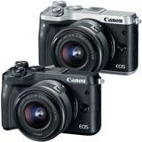 Canon EOS M6 15-45mm IS STM(公司貨)-送SONY 16G高速卡+微單桌上型腳架+UV保護鏡+快門線+相機包+清潔組+保護貼