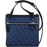 DKNY LOGO PVC斜背包-藍色
