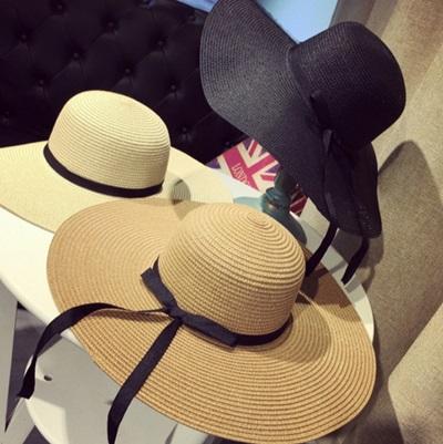 遮陽草帽緞帶沙灘帽-戶外出遊時尚精選生日情人節禮物女帽子3色73eq14【米蘭精品】