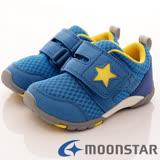 日本Carrot機能童鞋-美式星星機能款-C21665藍-(14cm-21cm)