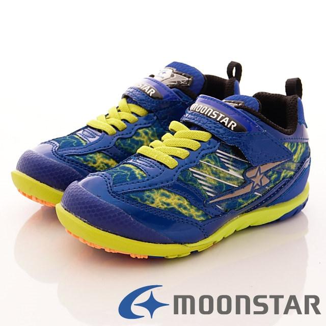 日本月星競速童鞋-渲染爆發競速款-SSJ7885藍(17cm-24.5cm)