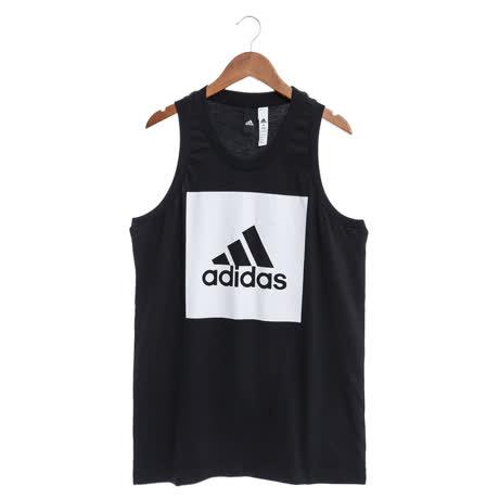 adidas 男 背心 黑ESS TANK-B47364-friDay購物
