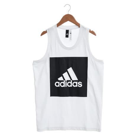 adidas 男 背心 白ESS TANK-S98704-friDay購物
