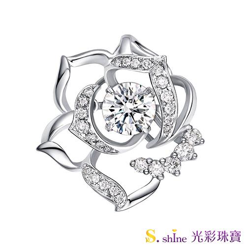【光彩珠寶】GIA0.3克拉 日本舞動鑽石項鍊 花見幸福