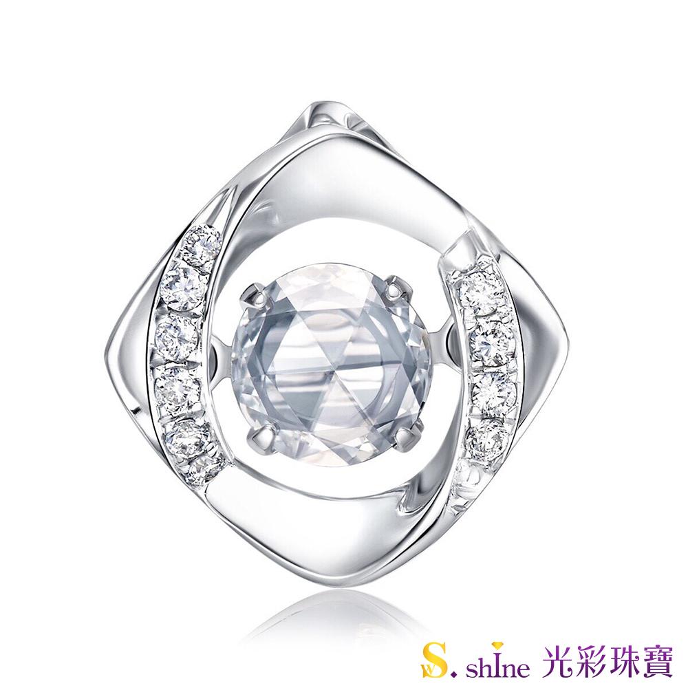 【光彩珠寶】10分 日本舞動鑽石項鍊 忠於愛情
