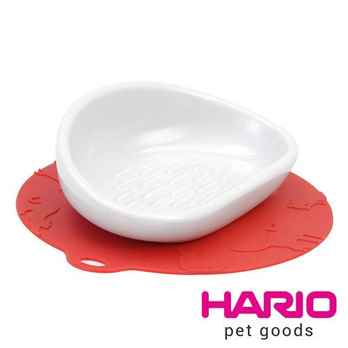 HARIO 長毛貓專用紅色陶瓷大碗  PTS-NYL-R