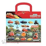 〔小禮堂〕迪士尼 閃電麥坤 Cars 泡棉貼紙組合《紅.賽車場紙卡.多角色》附提袋