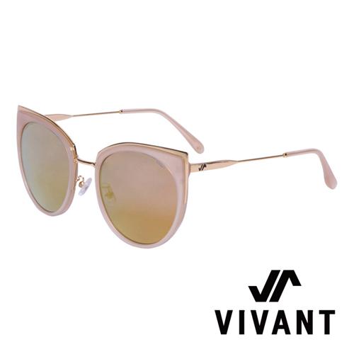 VIVANT 愛戀系列金屬貓眼太陽眼鏡.棕 AMOUR C3