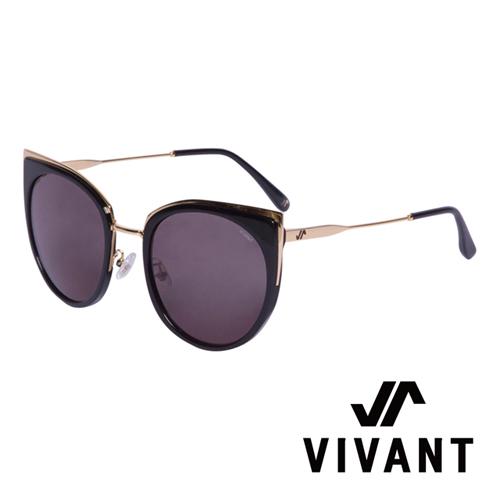 VIVANT 愛戀系列金屬貓眼太陽眼鏡.黑 AMOUR C1