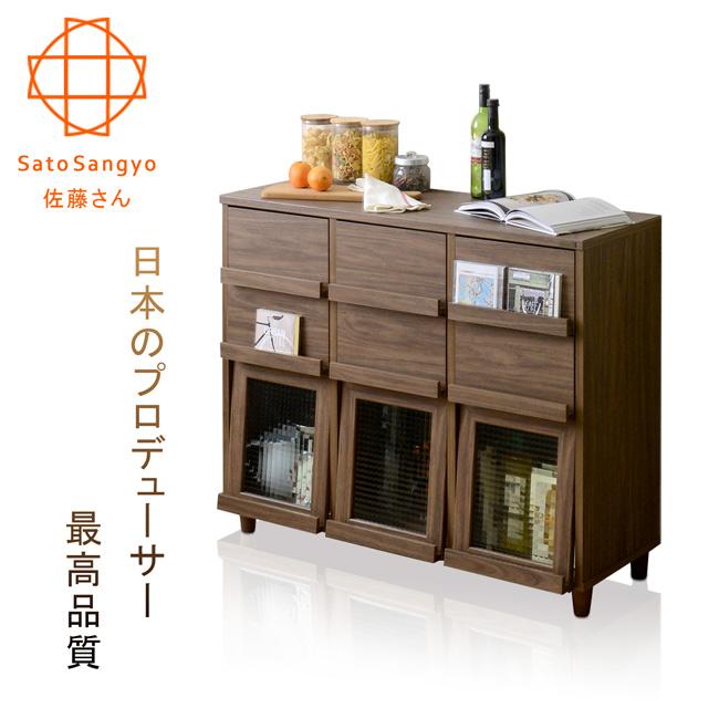 【Sato】NEFLAS時間旅人六抽三門收納書櫃‧幅111cm