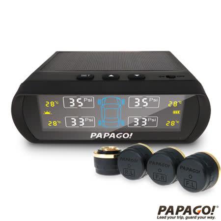 【清倉價~最後4台】【PAPAGO】TireSafe S60E無線太陽能胎外式胎壓偵測器(贈TESCOM大風量負離子吹風機)