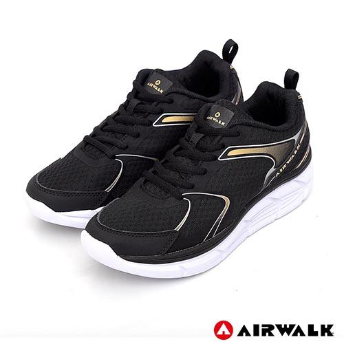AIRWALK - 活力律動運動鞋-黑色(女)