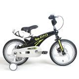 寶貝樂嚴選 16吋超輕量鎂合金前後碟煞腳踏車(打氣胎)-黑