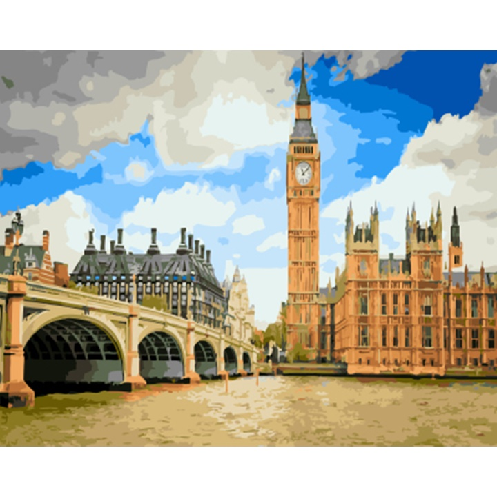 ArtLife藝術生活【DT066】倫敦漫遊_DIY 數字 油畫 彩繪 40*50cm