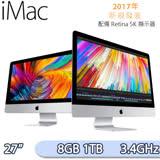 Apple iMac 27吋/5K/3.4GHz/8GB/1TB MNE92TA/A 桌上型電腦