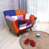 CARA Abel混色拼布設計款獨立筒單人沙發