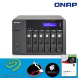 【 IronWolf 4TBx6 】QNAP 威聯通 TS-653 Pro-2G 6Bay NAS 網路儲存伺服器