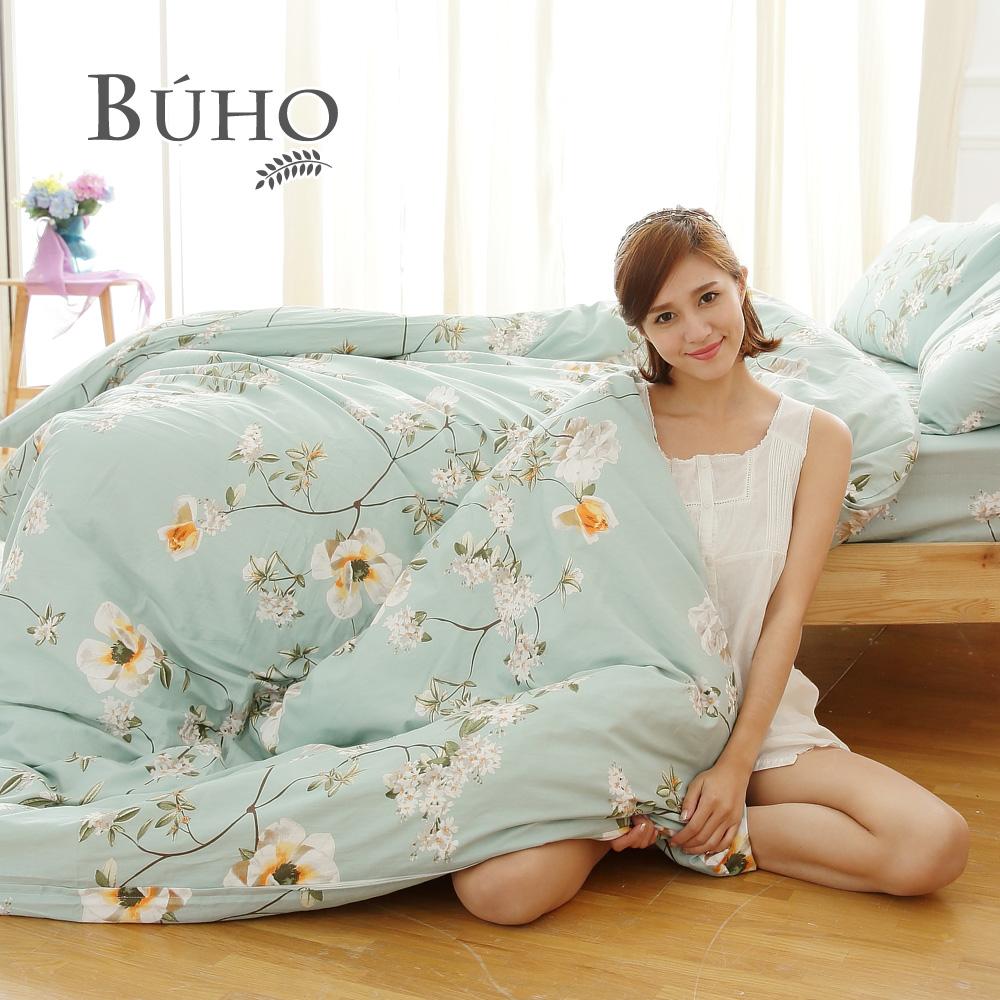 BUHO《浪韻花漾》天然 純棉雙人加大三件式床包組