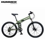 HUMMER 大悍馬 HM2600 26吋27速4連桿碟煞大折疊單車-綠