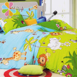 飾家《森林王國》頂級活性絲柔棉雙人兩用被床包組台灣製造