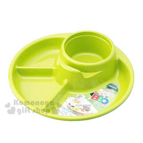 〔小禮堂〕inomata 野餐盤《綠.4格.圓形》野餐出外的好夥伴