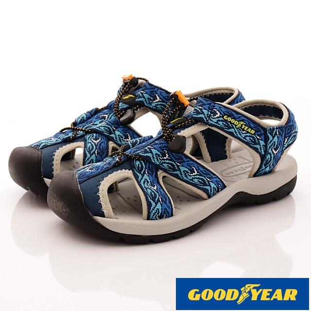 GOODYEAR戶外鞋-護趾運動涼鞋-(MS73606藍-男款-25-28cm)