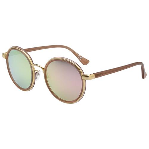 Calvin Klein 水銀面 帥氣圓面 太陽眼鏡(裸色)CK1227SK