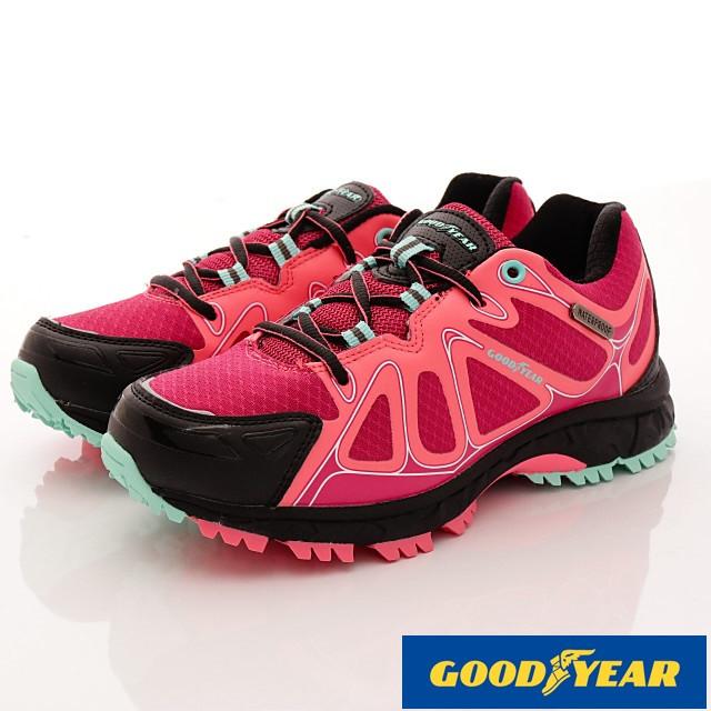 GOODYEAR戶外鞋-戶外多功能鞋-(WO72502枚紅-女款-23.5~25.5cm)