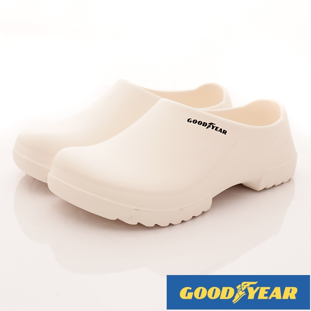 GOODYEAR戶外鞋-超輕量休閒工作便鞋-(MS73839白-男款-24~28cm)