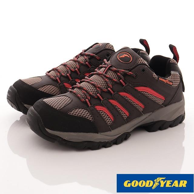 GOODYEAR戶外鞋-郊山徒步戶外鞋-(MO73503咖紅-男款-25.5~29cm)