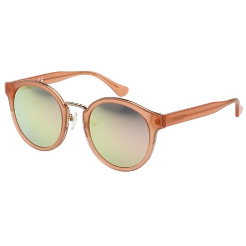 Calvin Klein-水銀面 復古太陽眼鏡(粉橘色)CK4337SK