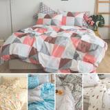 cheri【多款任選】台灣製 精梳純棉 加大床包枕套三件組