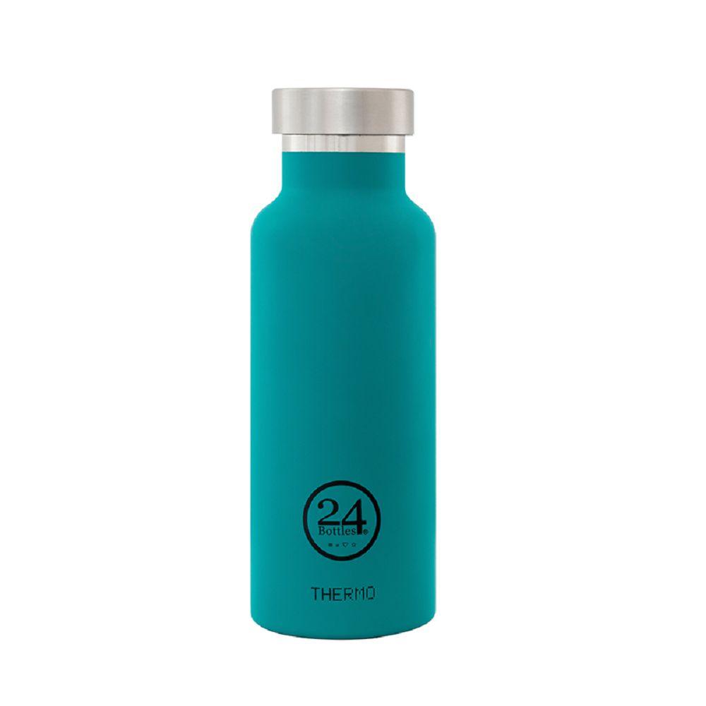 義大利 24Bottles 雙層保溫瓶 500ml - 海灣藍