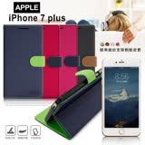 【台灣製造】FOCUS Apple iPhone 7 Plus 5.5吋 糖果繽紛支架側翻皮套