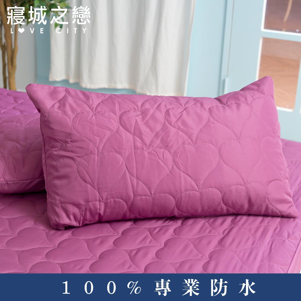 ~Love City寢城之戀~MIT100%防水保潔枕頭套2入深紫