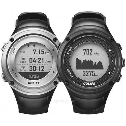 GOLiFE GoWatch X~PRO 全方位戶外GPS智慧 錶 黑 銀色