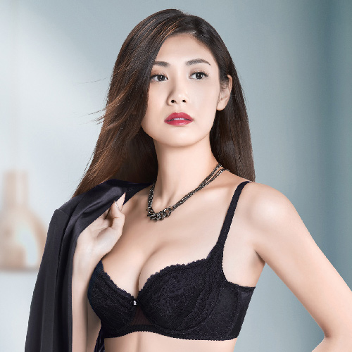 【華歌爾】X美型系列 D-E 罩杯 塑身機能內衣(時尚黑)