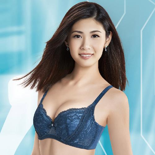 【華歌爾】X美型系列 D-E 罩杯 塑身機能內衣(光影藍)