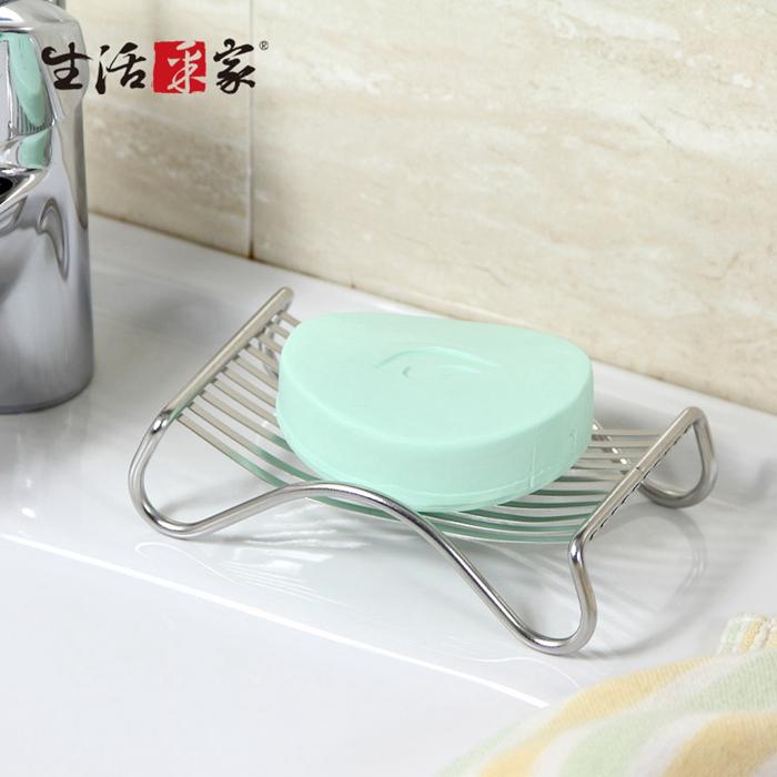 【生活采家】台灣製304不鏽鋼浴室用香皂架(2入組)#99411