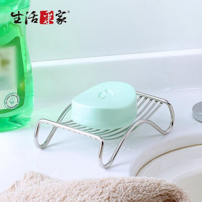 【生活采家】台灣製304不鏽鋼廚房用香皂架(2入組)#99411