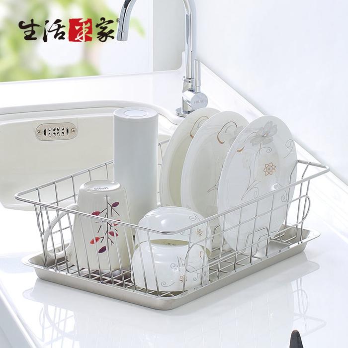 【生活采家】台灣製304不鏽鋼廚房碗盤陳列瀝水架#27245